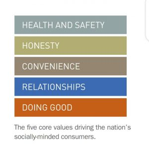 Values driving US socially minded consumers